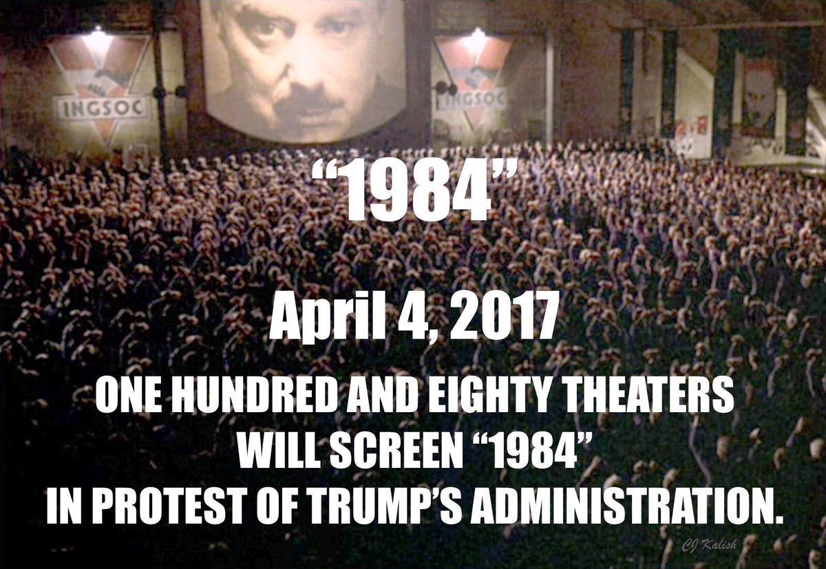 """Complete list of theaters showing """"1984"""" on April 4, 2017"""
