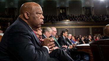 Obama White House Archives Rep. John Lewis Listens at State of the Union